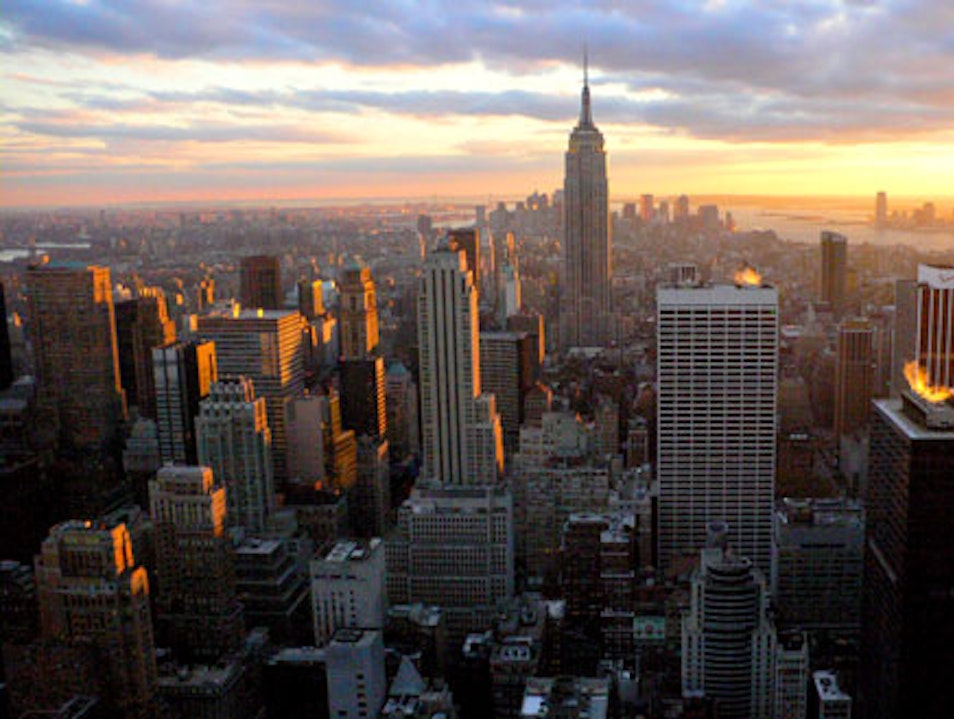 Sunset from Top of the Rock  New York New York United States