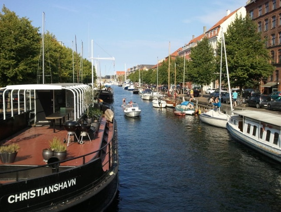 Summertime on the canal Copenhagen  Denmark