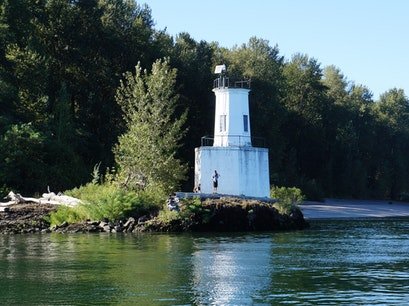 Warrior Rock Lighthouse Saint Helens Oregon United States