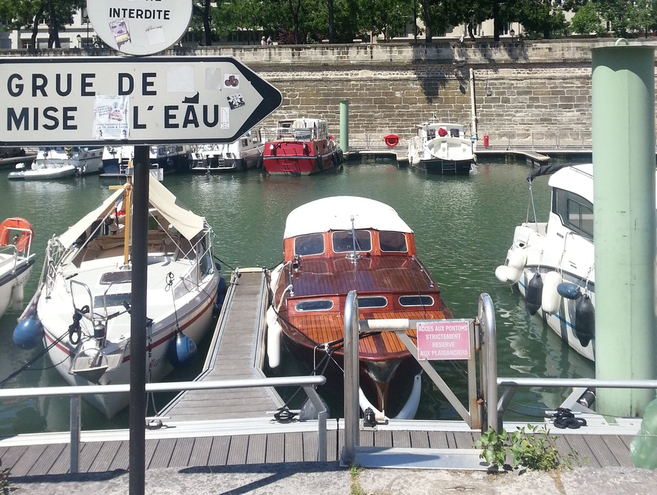 Boats at Rest, Canal St-Martin Paris  France