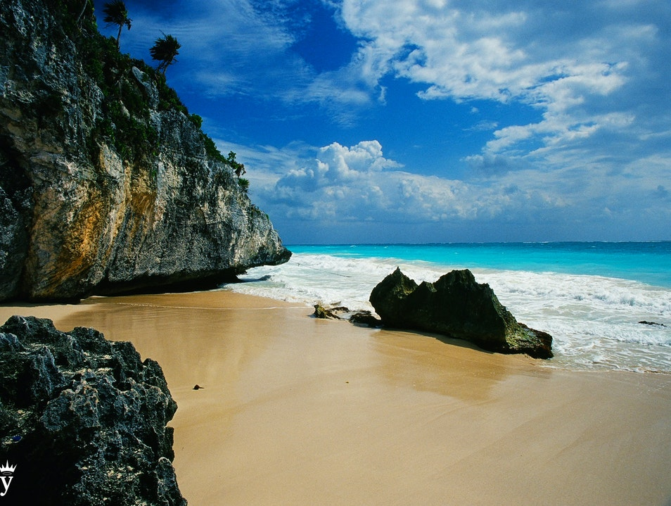The Beach at the Tulum Ruins