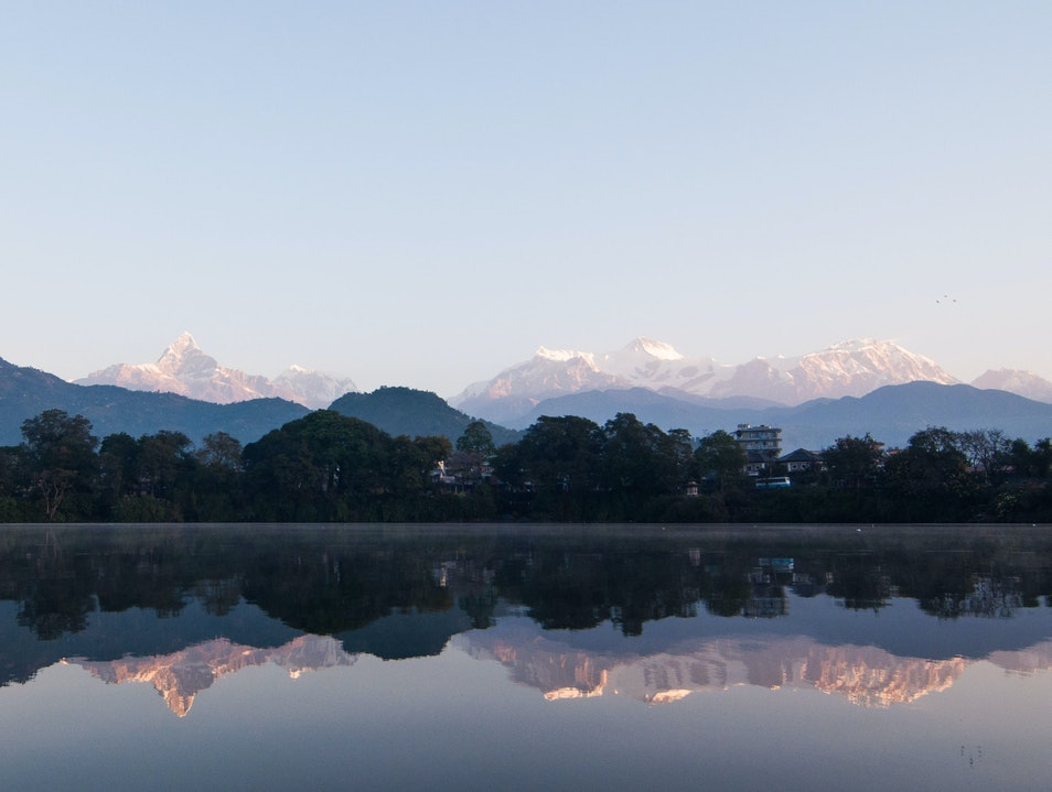 Himalayan Sunrise, Phewa Lake, Pokhara, Kaski District, Nepal.  Pokhara  Nepal