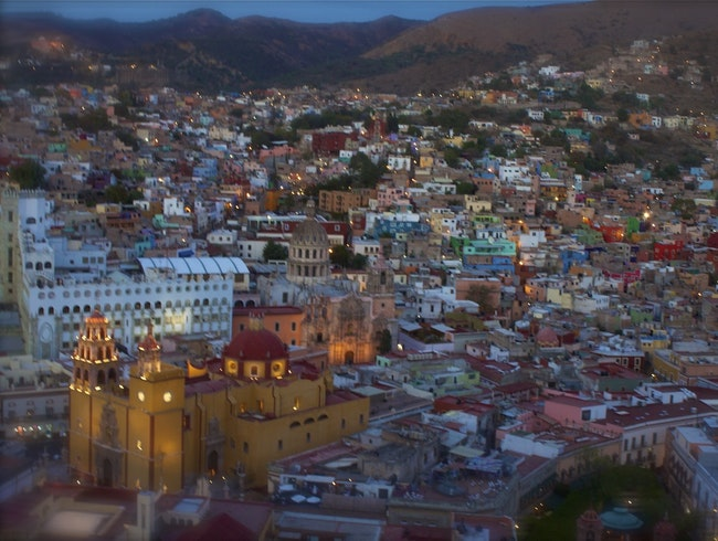 Looking down on Guanajuato