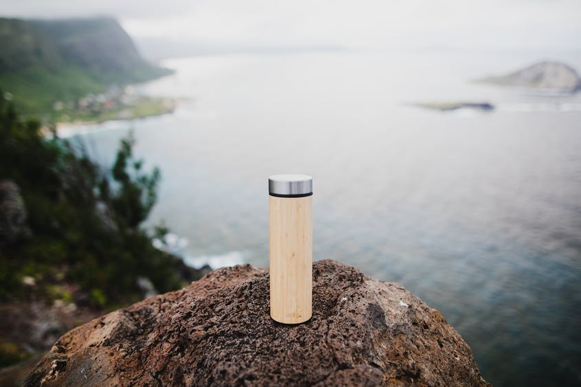 Welly's Insulated Bamboo Bottles have optional infusers so you can brew tea or coffee on the go.