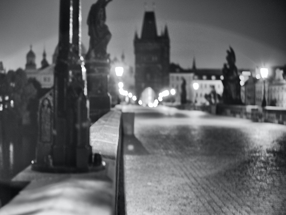 Karluv Most (Charles Bridge) after midnight! Golčův Jeníkov  Czech Republic