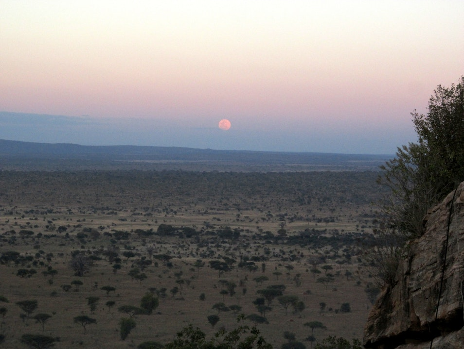 Moonrise over Tarangire Babati  Tanzania