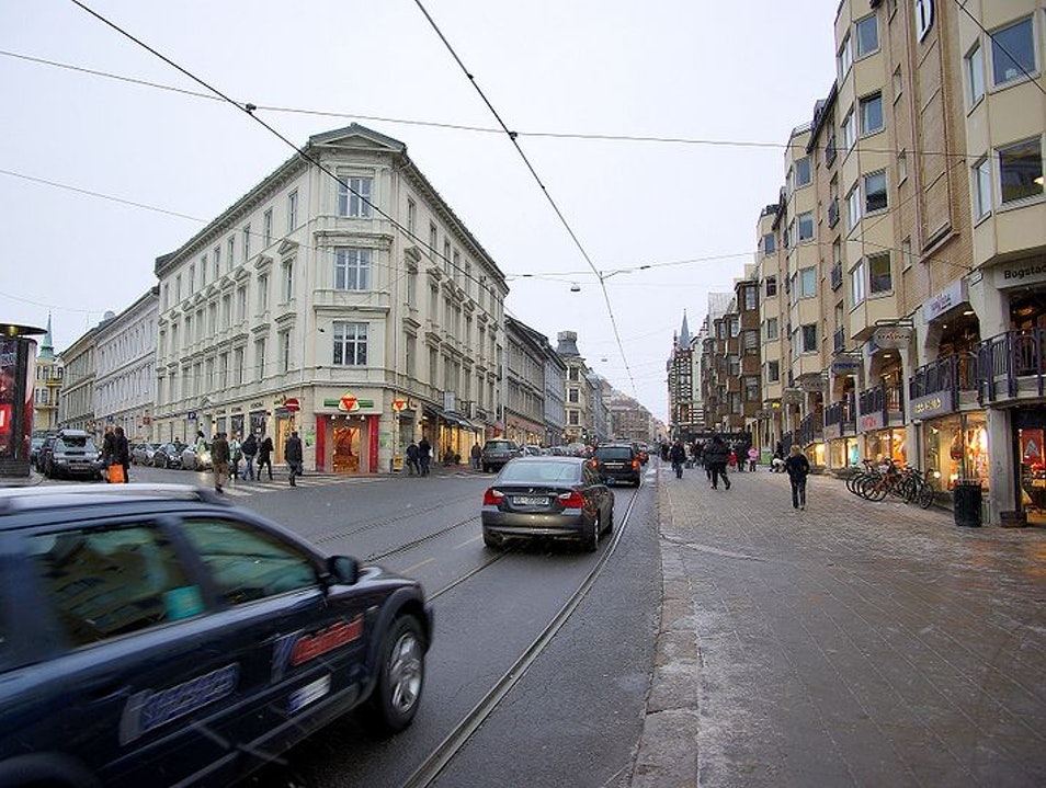 Longest Shopping Street Oslo  Norway