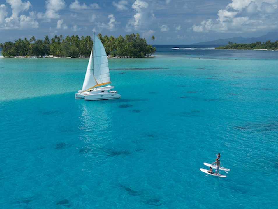 Float Through a Lagoon in The Society Islands