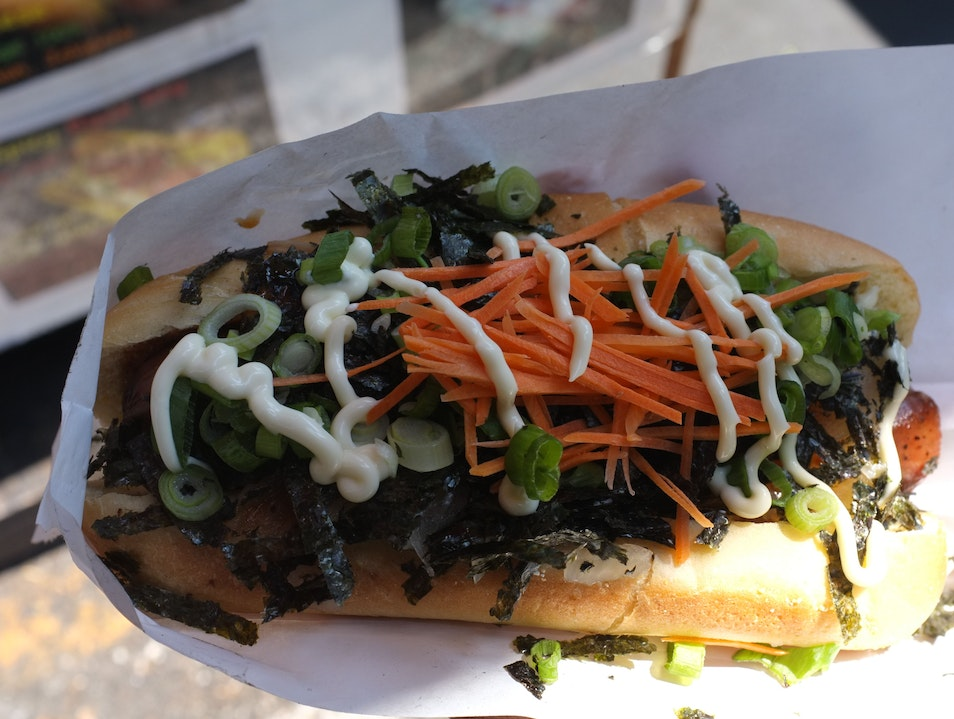 Japan x Hot Dogs = Simple Satori at Gourmet Dog Japon Seattle Washington United States