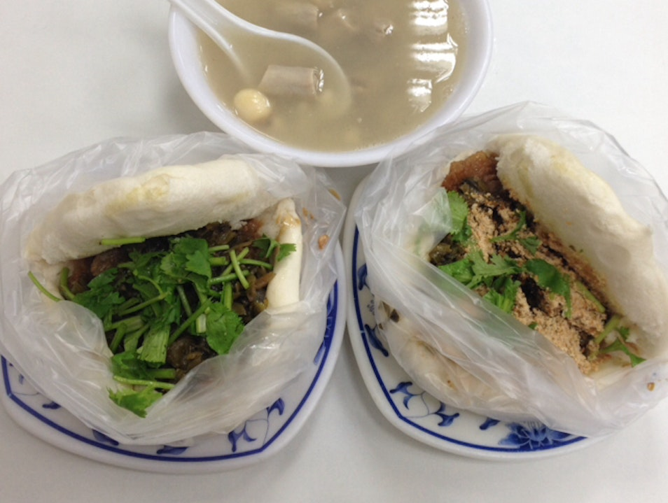 cheap and delicious guabao near national taiwan university Zhongzheng District  Taiwan