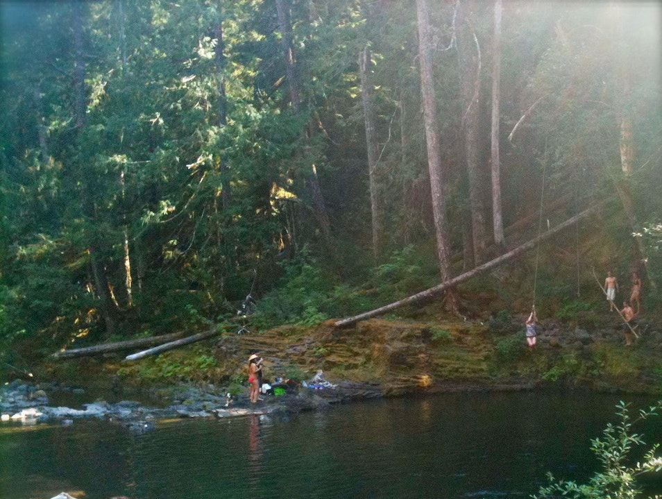 Deep Wilderness Swimming Hole Mt. Hood National Forest Oregon United States