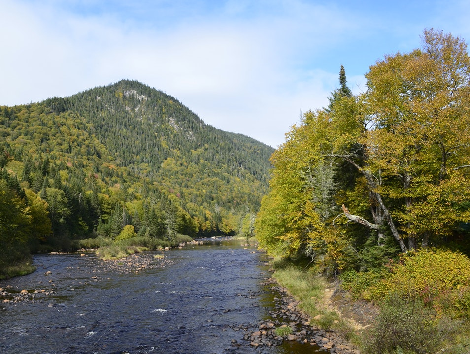 Les Loups hiking trail at Jacques-Cartier National Park Stoneham Et Tewkesbury  Canada