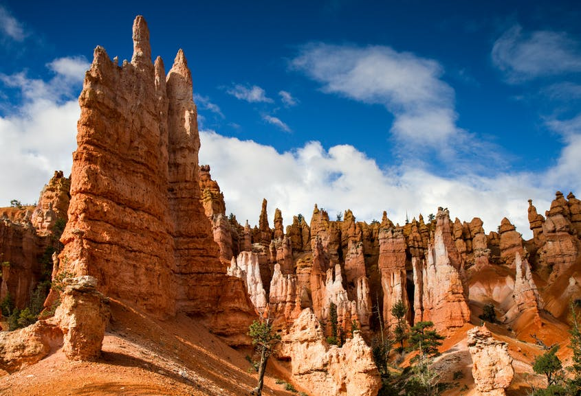 """Bryce Canyon's """"hoodoos"""" are the natural result of weathering and erosion to rocks by ice and rain."""