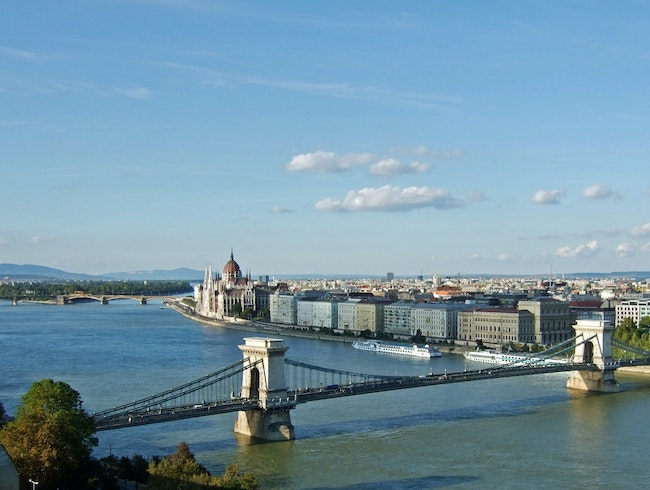 Chain Bridge, Blue Danube & Parliament, Budapest