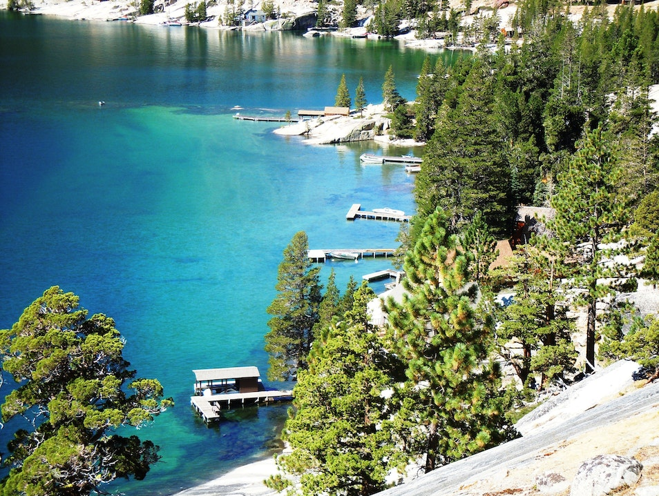 Swim in Echo Lake's Cobalt Blue Waters