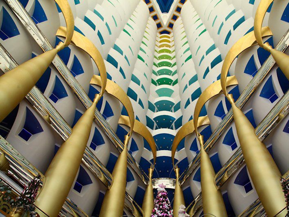 Floating above it all in the Burj Al Arab: Skyview Cocktails Dubai  United Arab Emirates