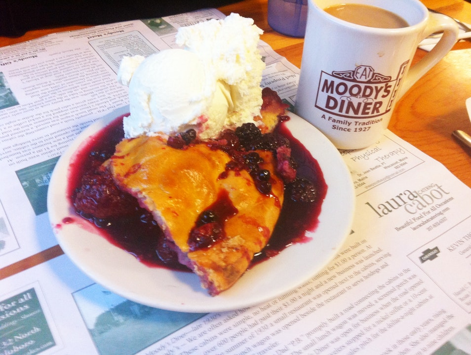 Berry Pie a la Moody's Diner Camden Maine United States