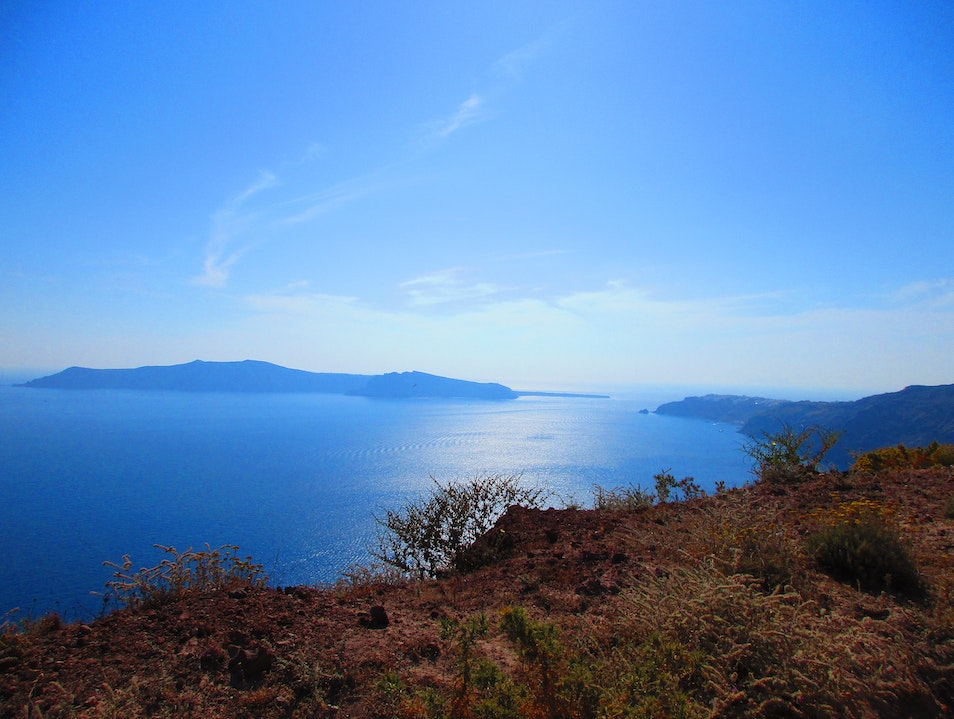 Hike from Thira to Oia Θήρα  Greece
