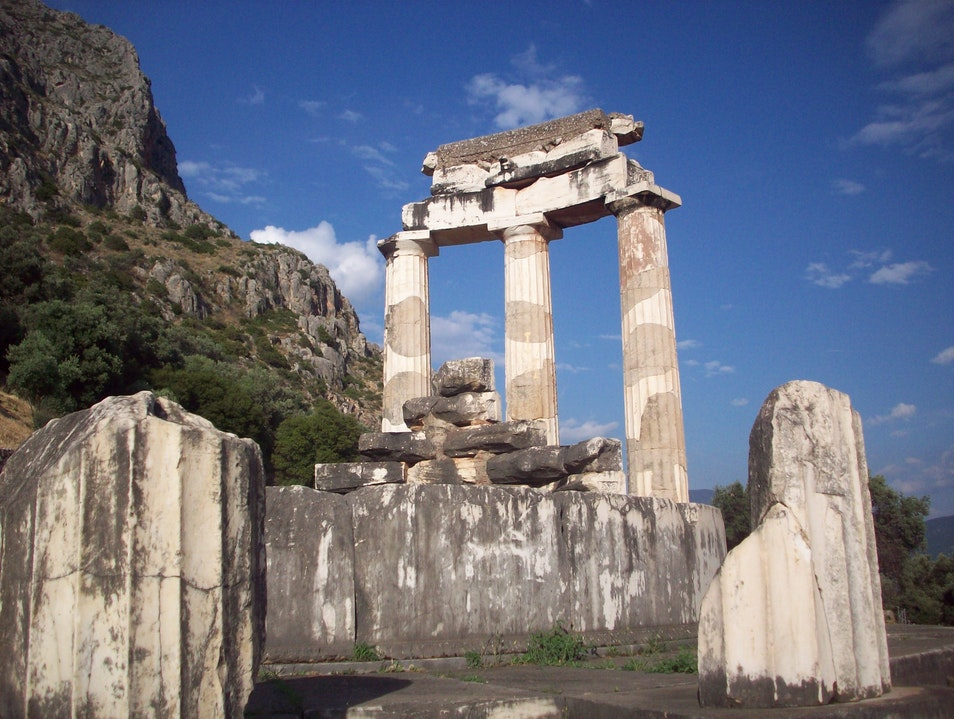 The Temple of Athena at Delphi Delfi  Greece