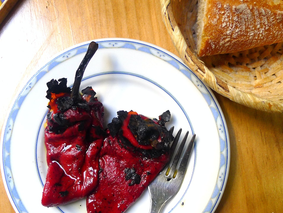 Fresh Roasted Piquillo Peppers Donostia  Spain