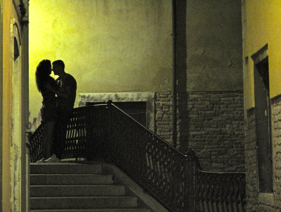 Love On A Bridge Venice  Italy
