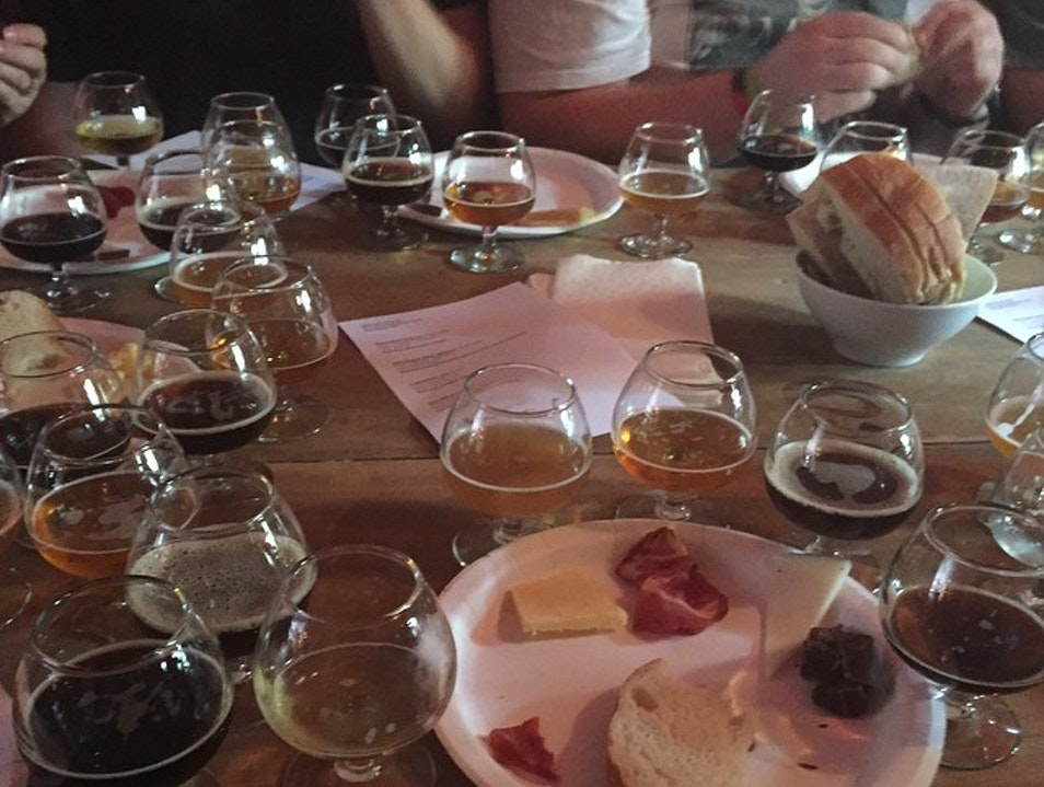 Beer Tasting at Spuyten Duyvil New York New York United States