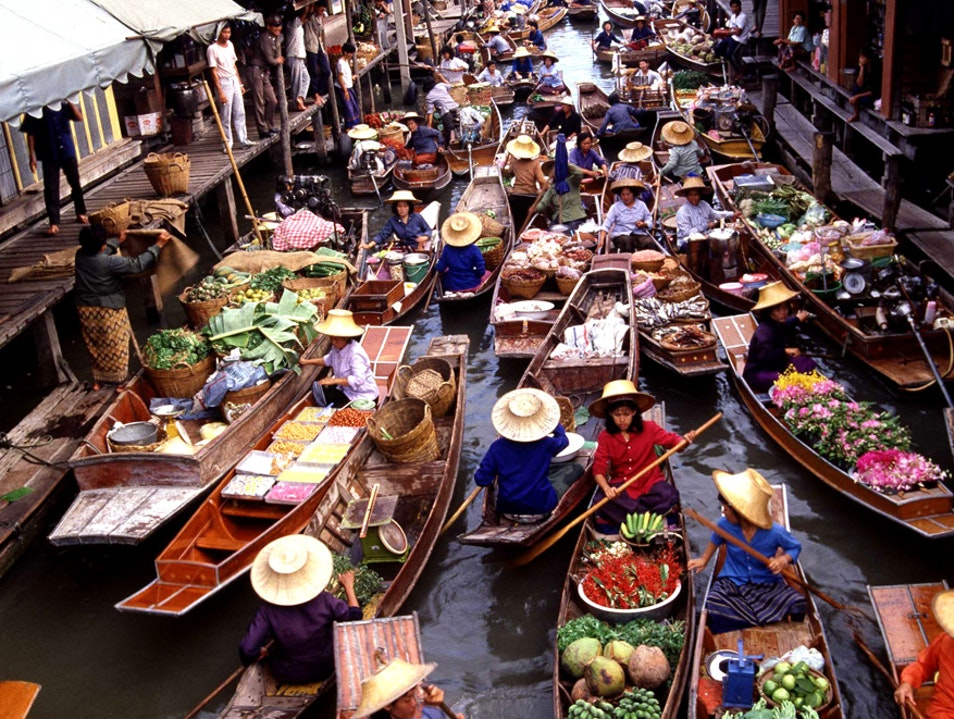 Shop the Magnificent Floating Markets Amphawa  Thailand