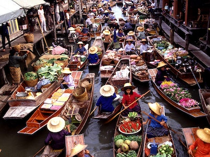 Amphawa Floating Marketing Amphawa  Thailand