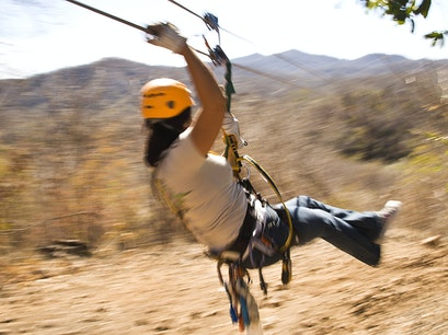 Zip Line over Agave Fields Mazatlan  Mexico