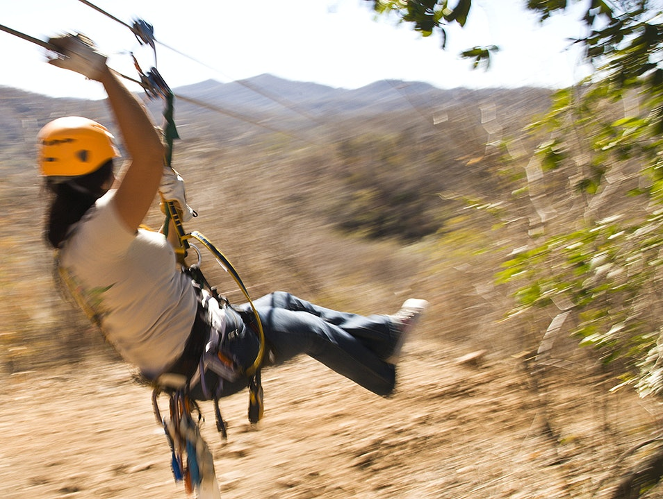 Zip Line Over Agave Fields