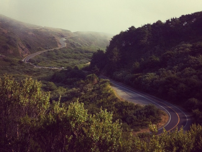 Highway One between Jenner and Bodega Bay