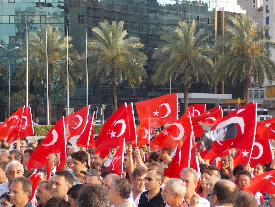 The Turkish people march