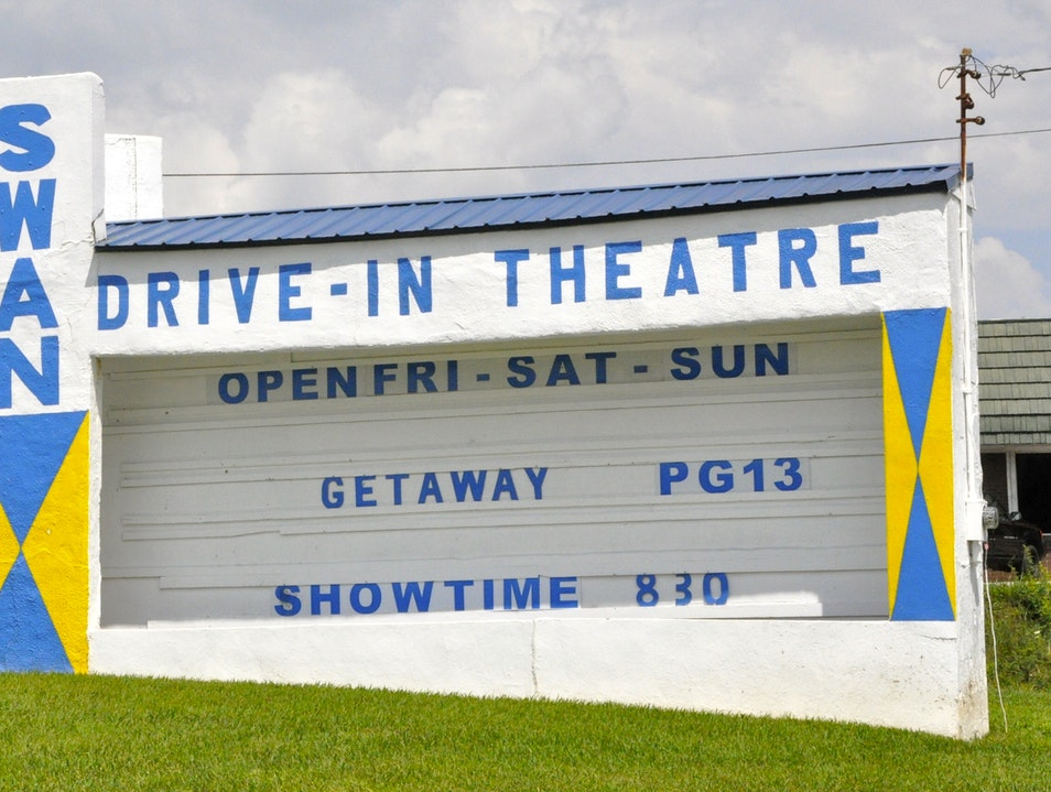 North Georgia's Drive-In Theater Blue Ridge Georgia United States