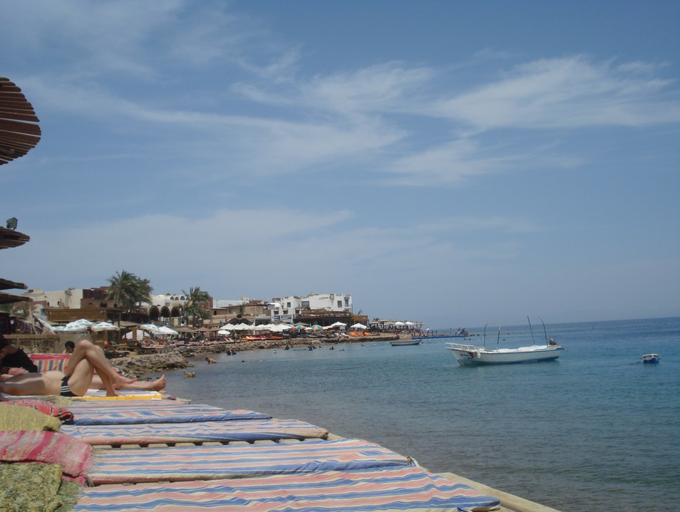 Seaside on the Sinai Peninsula Dahab  Egypt