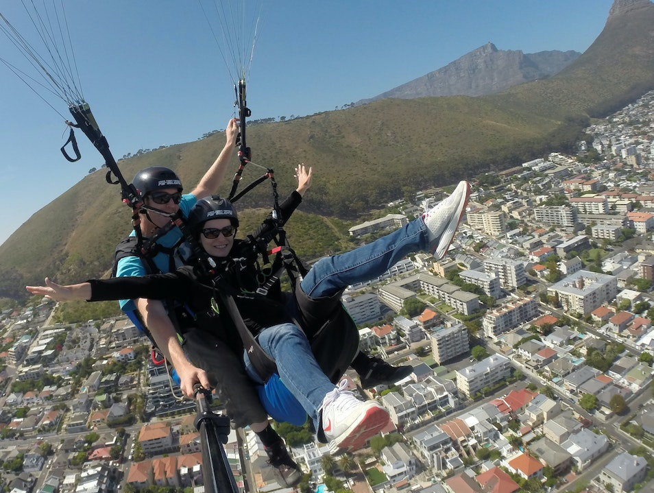 Paragliding over Cape Town Cape Town  South Africa