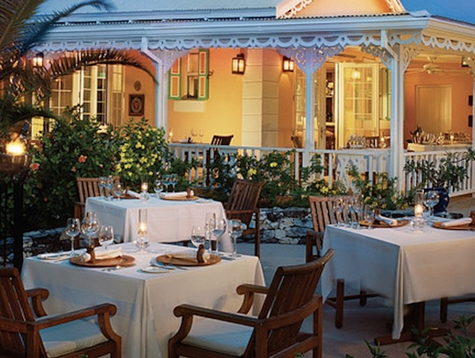Romantic Al Fresco Dining: Grace's Cottage Grace Bay  Turks and Caicos Islands