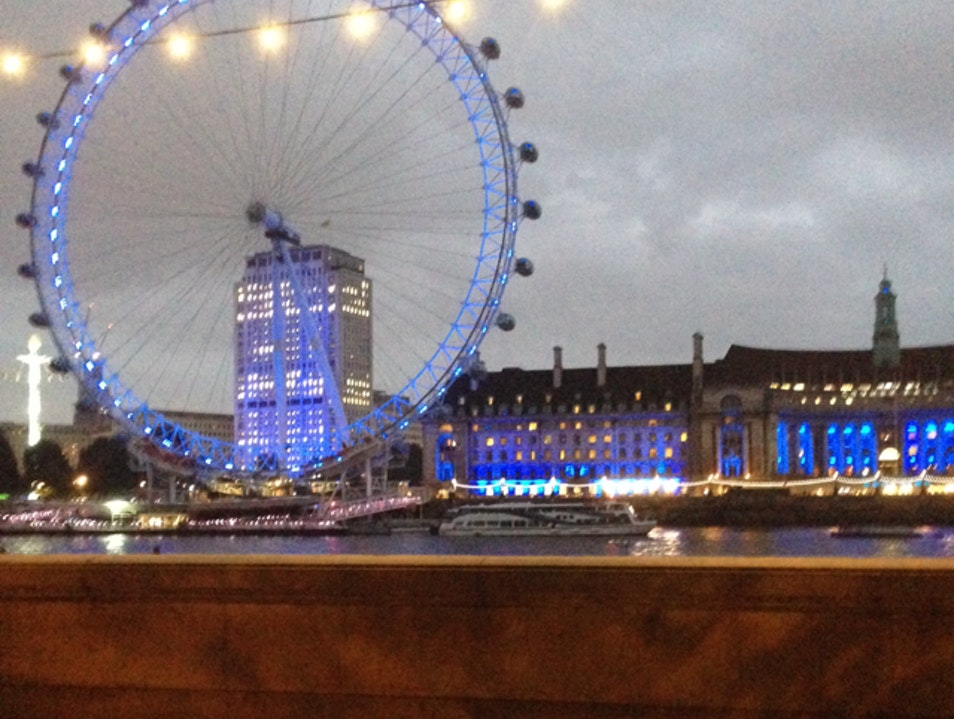 The Eye and County Court at Twilight