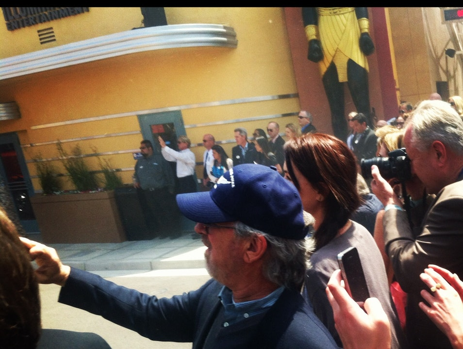 Me and Spielberg checking out the launch!