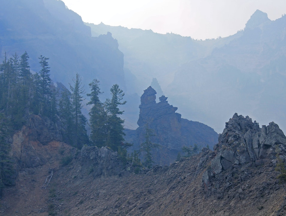 Rock Formations of Crater Lake Crater Lake Oregon United States