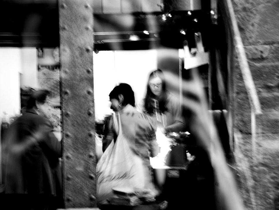 Shopping in the Gothic Quarter Barcelona  Spain