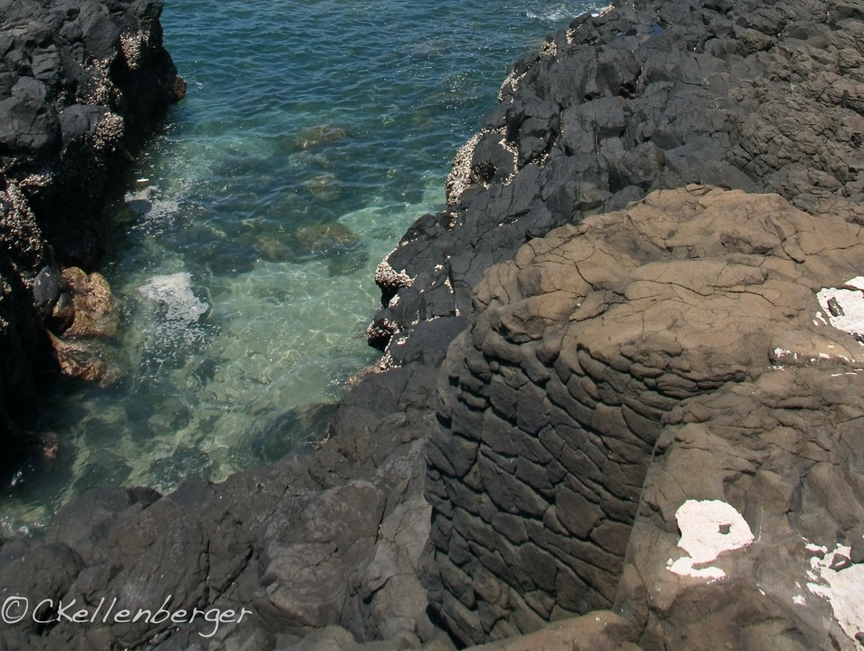 Listen to the Sea at Fenggui Caves, Penghu Magong City  Taiwan
