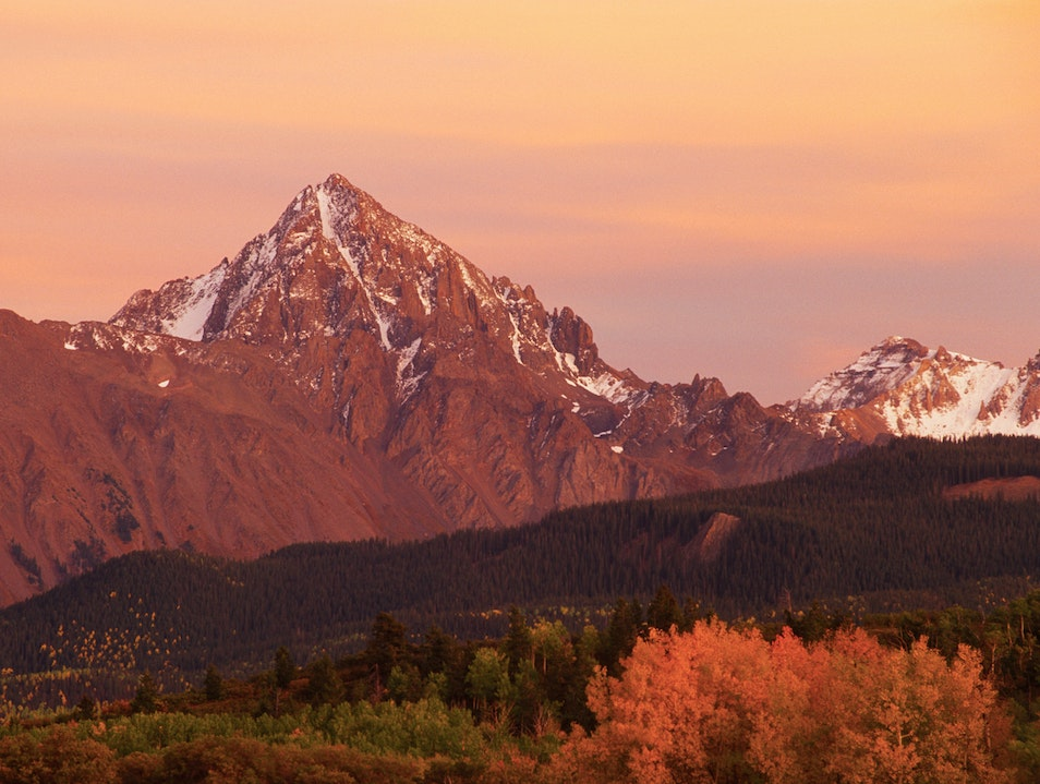 Sneffels Range at Sunset Ridgway Colorado United States