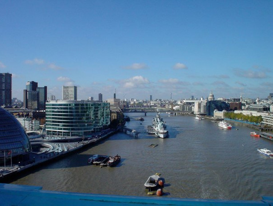 View from Tower Bridge London  United Kingdom