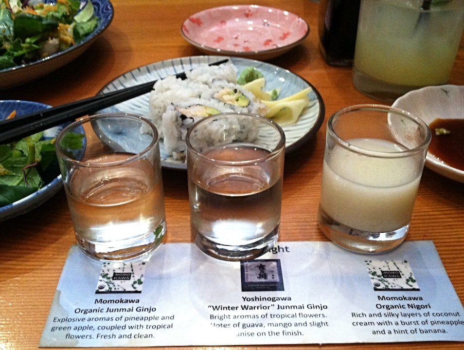 Happy hour Sake sampler Oakland California United States