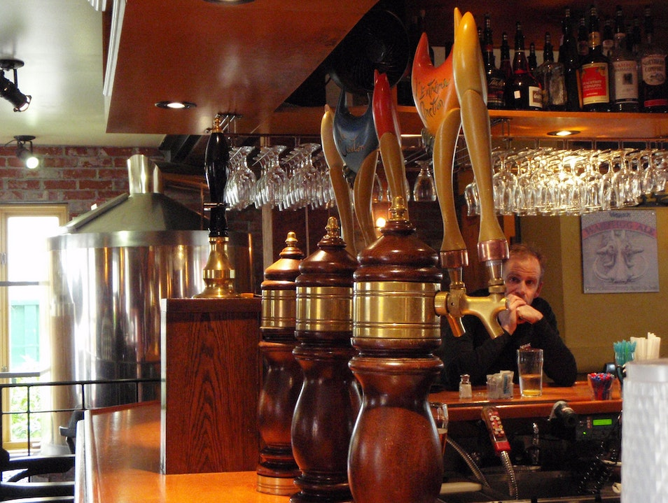 Artisanal Beer at La Diable Microbrewery Mont Tremblant  Canada