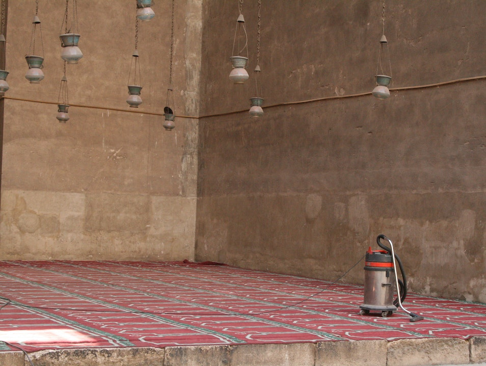 The vaccuum at the mosque Cairo  Egypt