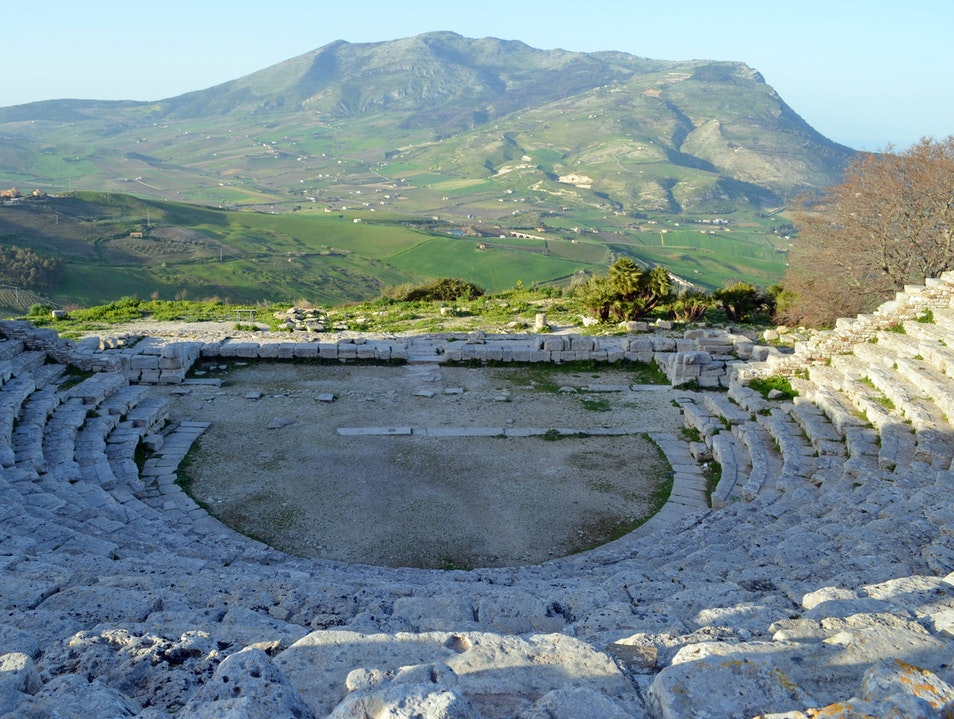 Greek Theater at Segesta Calatafimi-Segesta  Italy