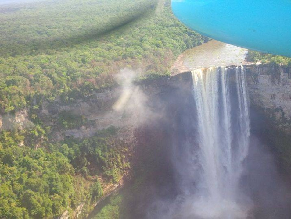 A Powerful Single-Drop Waterfall, in Guyanese Amazon Potaro-Siparuni  Guyana