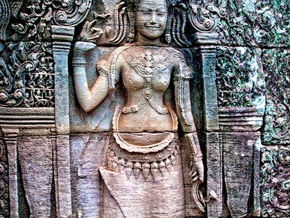 The Amazing Carved Goddesses of Angkor Wat Siem Reap  Cambodia