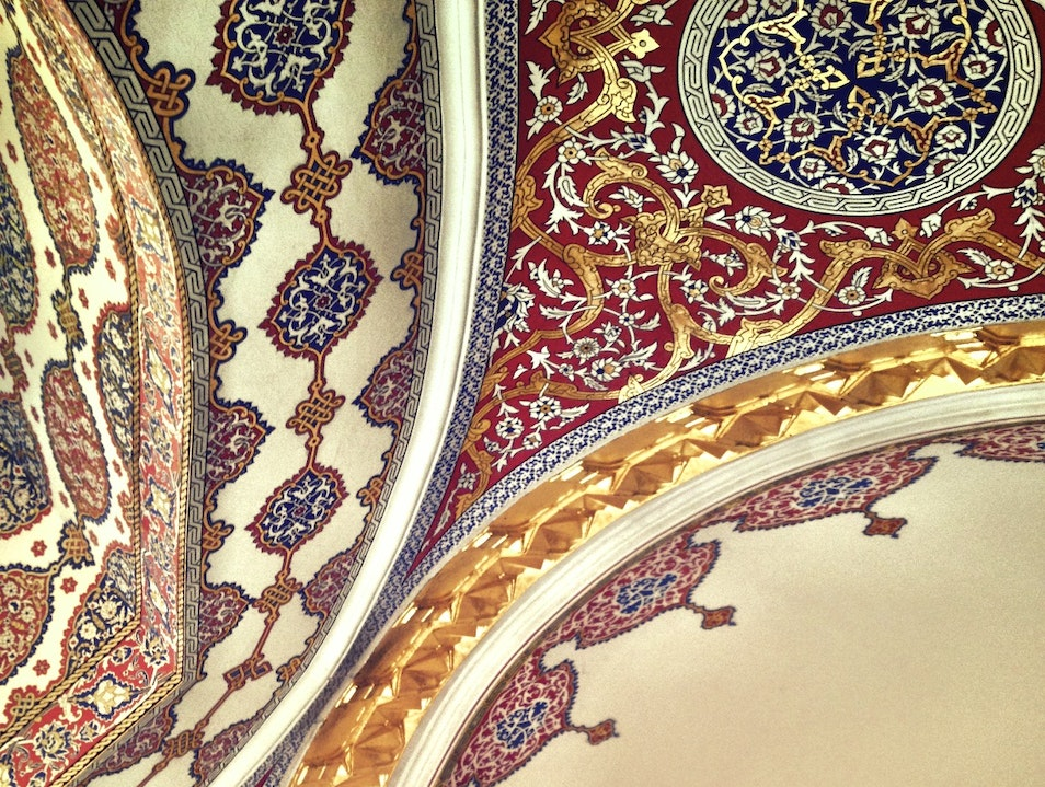 Colorful and Detailed Ceilings in the Sultan's Harem Istanbul  Turkey